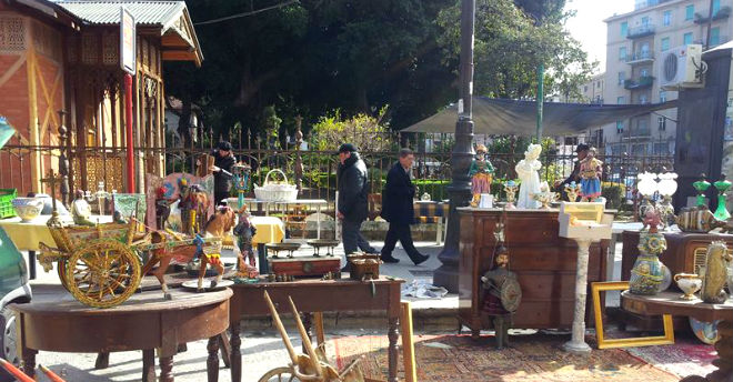 Piazza marina la domenica diventa mercatino dell antiquariato for Antiquariato palermo